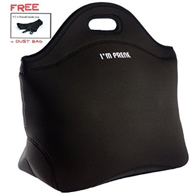 """XLarge xthick Insulated Lunch bag-premium Neoprene Tote with Shoulder strap-13X 14.5X 6.5"""" ..."""