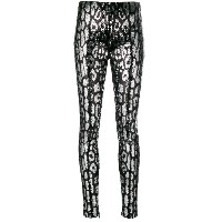 Tom Ford leopard printed leggings - ブラック