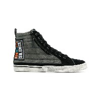 Diesel Silence patch sneakers - ブラック