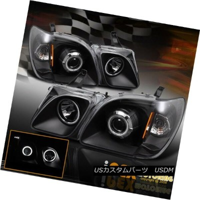 ヘッドライト 1998-2007 Lexus LX470 LX-470 Brightest CCFL Halo Projector LED Headlights Black 1998-2007...