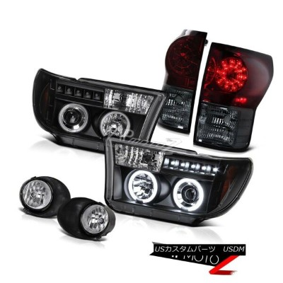 ヘッドライト Toyota Tundra 07-13 L+R CCFL Halo Projector Headlight+Led Tail Light+Fog Lamp トヨタツンドラ07-13 L...