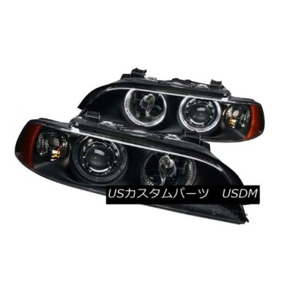 ヘッドライト ANZO 121017 Set of 2 Black Halo Projector Headlights for 97-01 BMW 5-Series ANZO 121017 97...