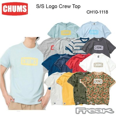 CHUMS チャムス CH10-1118 S/S Logo Crew Top Women's 半袖ロゴクルートップ(トップス/スウェット) ※取り寄せ品