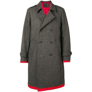 Tommy Hilfiger midi buttoned coat - グレー