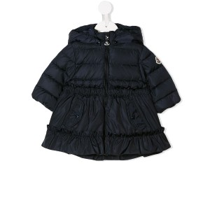 Moncler Kids padded coat - ブルー