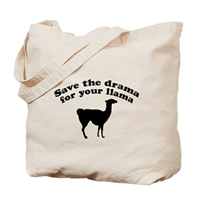 CafePress – Save the Drama for your Llama – ナチュラルキャンバストートバッグ、布ショッピングバッグ