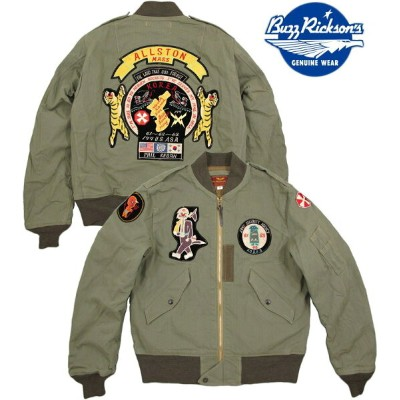 """BUZZ RICKSON'S/バズリクソンズ Jacket, Flying, Light Type L-2""""CIVILIAN MODEL"""" ARMY SECURITY AGENCYコットンヘリンボーン..."""