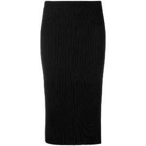 Brognano ribbed knit midi skirt - ブラック