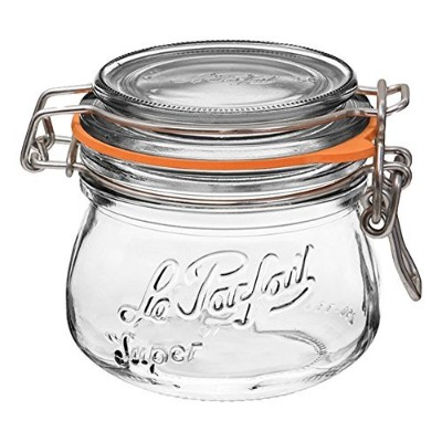 Le ParfaitスーパーJars–Wide Mouth FrenchガラスPreserving Jars–消費者パック 250ml - 8oz クリア