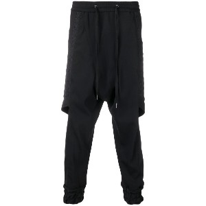 D.Gnak side panelled trousers - ブラック