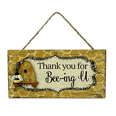 (Thank You for Bee-ing U) - Thank You for Bee-ing You Decorative Hanging Bee Sign