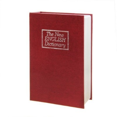 (1, CLASSIC) - LARGE NEW RED ENGLISH DICTIONARY SECRET BOOK SAFE MONEY BOX JEWELLERY SECURITY LOCK