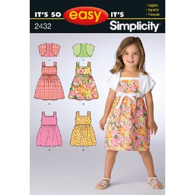 Simplicity Sewing Pattern 2432 It's So Easy Child's Dresses, A (3-4-5-6-7-8) by Simplicity Creative...