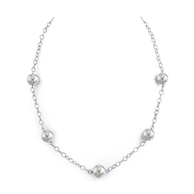 "14 K 9 – 10 mmホワイトSouth Sea Cultured Pearl Tincupネックレス18 ""長"