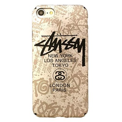 STUSSY iPhone8 iPhone7 (4.7inch) 対応ケース ステューシー 液晶保護フィルム付 7st216 [並行輸入品]