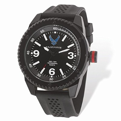 Top 10ジュエリーギフトUS Air Force Wrist Armor c20時計、BLK / WHT DIAL & Blk Rubber Strap