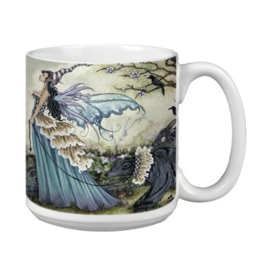 Tree-Free Greetings XM27574 Amy Brown Artful Jumbo Mug, 590ml, Fantasy Fairy Frillicent and the Bear