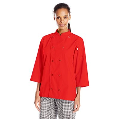 Uncommon Threads 0975-5005 Epic 3/4 Sleeve Chef Shirt in Persimmon - XLarge
