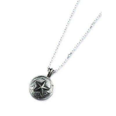 amp japan(アンプ ジャパン)【Hybrid Star Native Coin Necklace / ハイブリッド スター ネイティブ コイン ネックレス [16AC-110]】[正規品]...