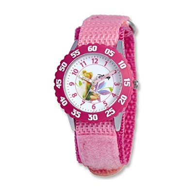 Disney KidsティンカーベルピンクBand Time Teacher Watch