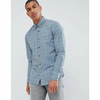 ヒューゴ ボス シャツ Relegant Gingham Check Shirt in Blue