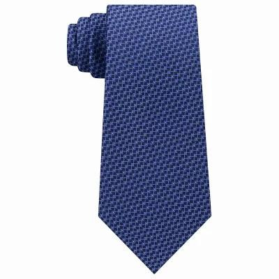 マイケル コース Michael Kors ネクタイ Interconnected Lines Silk Tie Navy