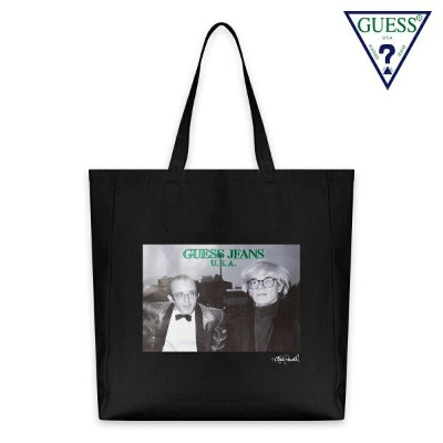 GUESS GREEN LABEL x RICKY POWELL ゲス グリーンレーベル リッキー・パウエル KEITH+ANDY TOTE BAG - BLACK トートバッグ ブラック