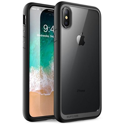 SUPCASE iPhone XS Max ケース 背面クリア ワイヤレス充電可 ハイブリッド アイフォンX ケース UBStyleシリーズ 透明/黑