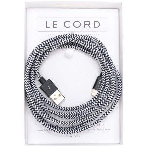 Le Cord braided Apple cable - ブラック