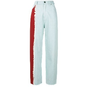 House Of Holland contrast mom jeans - ブルー