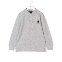 Ralph Lauren Kids bear embroidered polo shirt - グレー