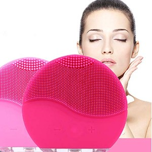 Electric Silicone Facial Cleansing Brush Sonic Vibration Massage USB Rechargeable Smart Ultrasonic Face Cleaner Beauty Tool 電気シリコーンフェイシャルクレンジングブラシソニック振動マッサージUSB充電式スマート超音波フェイスクリーナービューティーツール