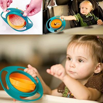 Vibola Kid Baby Toy Universal 360C Rotate Spill-Proof Bowl Dishes 1 PCS