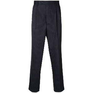 Lc23 pinstriped tapered trousers - ブルー