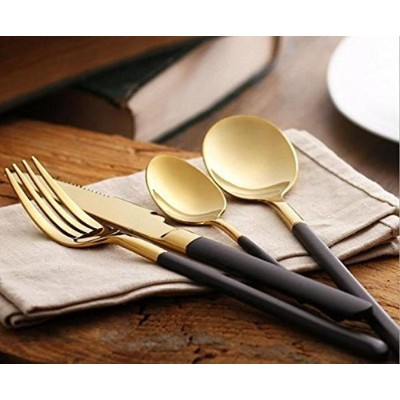 (24) - Flatware Set Cutlery Set Stainless Steel 18/10 Flatware 4-Piece Set Mirror Polished Total 24...
