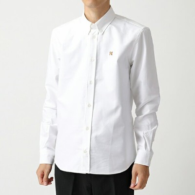 MAISON KITSUNE メゾンキツネ BM00415AT1000 OXFORD FOX HEAD EMBROIDERY CLASSIC SHIRT BD オックスフォードシャツ WHITE...