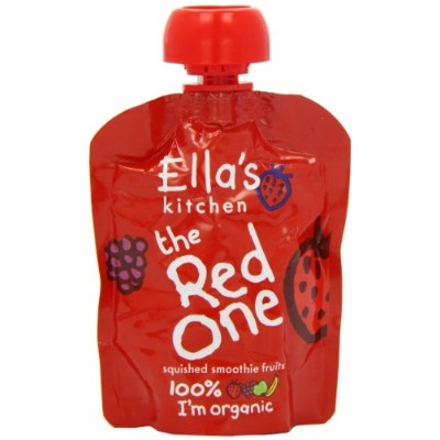 Ella's Kitchen the Red One Organic Squished Smoothie Fruits (5x90g) エラのキッチン赤い種の有機踏み付けスムージー果物( 5X90G...