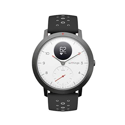 Withings Steel HR Sport ホワイト 歩数 消費カロリー 心拍数 睡眠データ記録 最大25日間充電持続 【日本正規代理店品】 HWA03B-40white-sport-all...