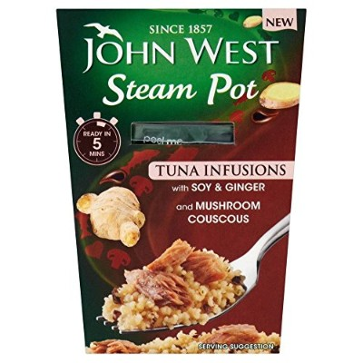 John West Steam Pot Tuna with Soy & Ginger & Couscous (150g) 大豆と生姜とクスクスとジョン?ウェストスチームポットマグロ( 150グラム)