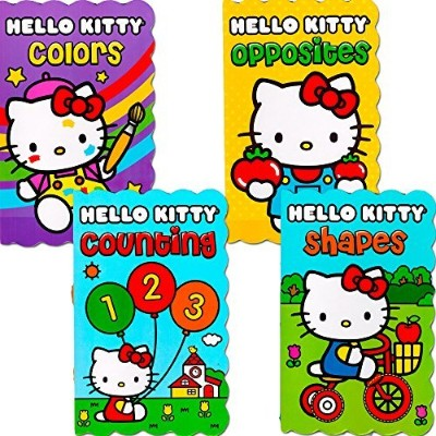 Hello Kitty Board Books - Set of Four My First Books for Toddlers (Numbers, Shapes, Colors and...