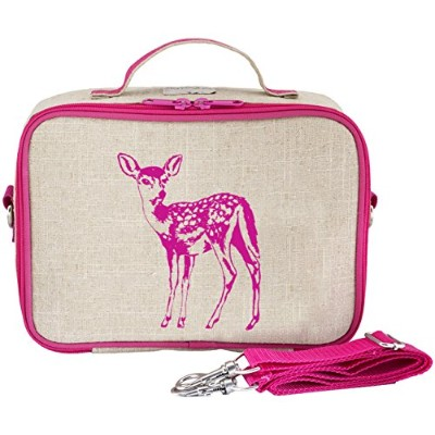SoYoung Pink Fawn Lunch Box, Raw Linen by SoYoung