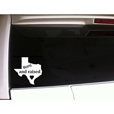 """Born and Raised Heart in Texas state 6""""ビニールステッカーデカール* c35Pride Texans States"""