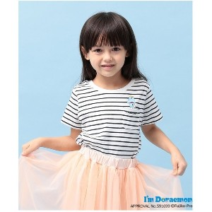 【SALE 50%OFF】ROPE' PICNIC KIDS 【ROPE' PICNIC KIDS】【I'm Doraemon】ボーダーTシャツ(オフホワイト(15))【返品不可商品】