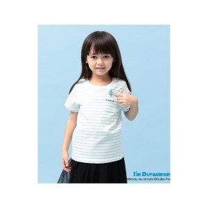 【SALE 50%OFF】ROPE' PICNIC KIDS 【ROPE' PICNIC KIDS】【I'm Doraemon】ボーダーTシャツ(ライトグリーン(33))【返品不可商品】