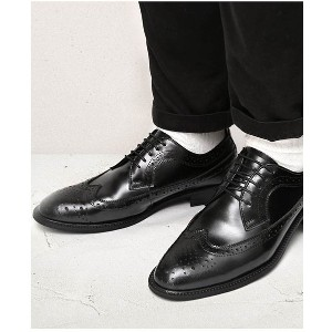 【SALE 60%OFF】GUIONNET GUIONNET WING TIP BS105 ドレスシューズ BS105 メンズ(ブラック)【返品不可商品】 メンズ
