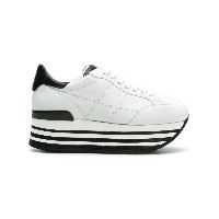 Hogan lace up sneakers - ホワイト