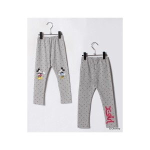 【SALE 50%OFF】X-girl Stages ミッキー&ミニー ロング丈レギンス(トップグレー)【返品不可商品】