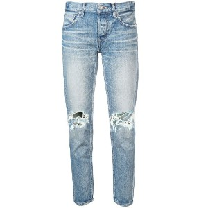 Moussy Vintage ripped knee jeans - ブルー