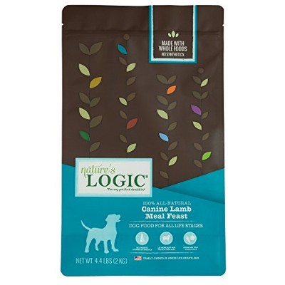 NATURE'S LOGIC 858155001232 Dry Dog Lamb, 4.4-Pound Bag by NATURE'S LOGIC