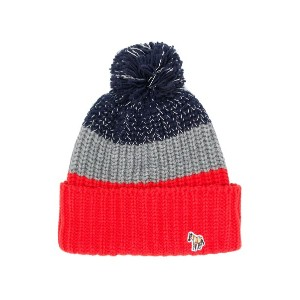 Paul Smith Junior tricolour knitted hat - オレンジ